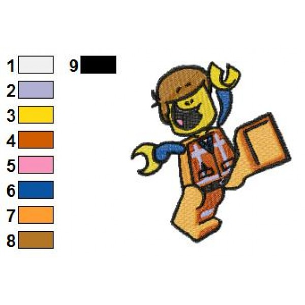 Great Emmett The Lego Movie Embroidery Design