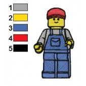 The Lego Movie Embroidery Design