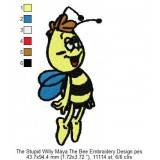 The Stupid Willy Maya The Bee Embroidery Design
