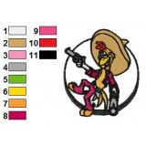 The Three Caballeros Embroidery Design