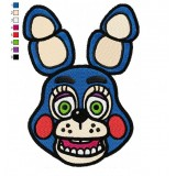 Toy Bonnie Five Nights at Freddys Embroidery Design