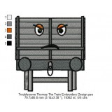 Troublesome Thomas The Train Embroidery Design