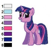 Twilight Sparkle My Little Pony Smiling Embroidery Design