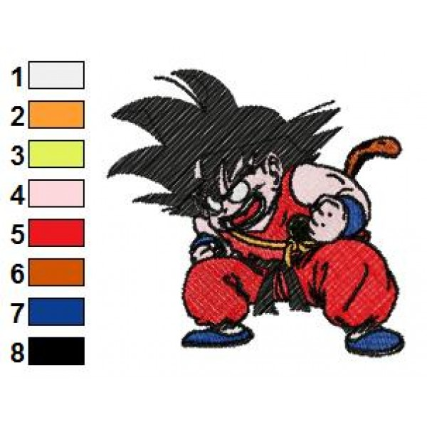 Very Dangerous Dragon Ball Z Embroidery Design