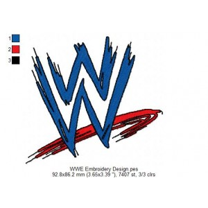 WWE Embroidery Design