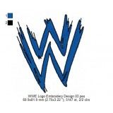 WWE Logo Embroidery Design 03