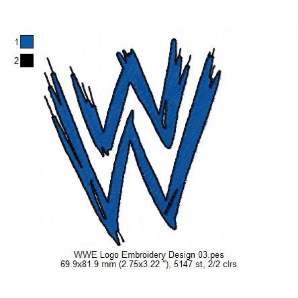 WWE Logo Embroidery Design 03