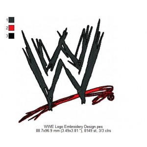 WWE Logo Embroidery Design