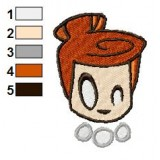 Wilma Flintstone Face Embroidery Design