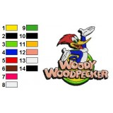 Woody Woodpecker 01 Embroidery Design
