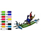 Woody Woodpecker 07 Embroidery Design