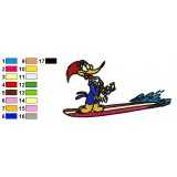 Woody Woodpecker 12 Embroidery Design