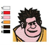 Wreck It Ralph Face Embroidery Design