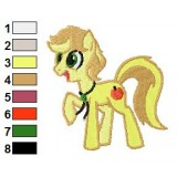 Young Braeburn My Little Pony Embroidery Design