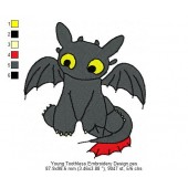 Young Toothless Embroidery Design