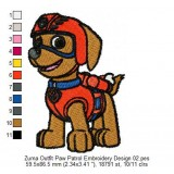 Zuma Outfit Paw Patrol Embroidery Design 02