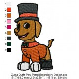 Zuma Outfit Paw Patrol Embroidery Design